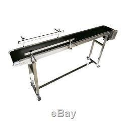 1.8m(70.8)L PVC Belt Conveyor With Double Guardrails with No Wheels, 7.8W New