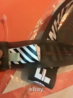 100% Auth Off-White PVC Industrial Belt Black/white. DS. New