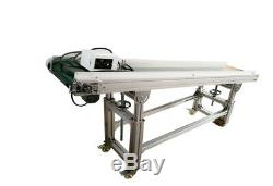 110V 70.8inch x 11.8inch Green PVC Belt Electric Inclined Conveyors Machine New
