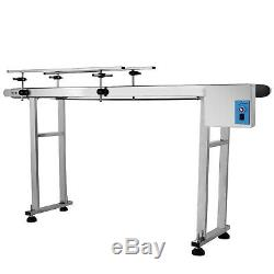 59''x 7.8'' PVC Belt Conveyor Machine With Stainless Steel Double Guardrail