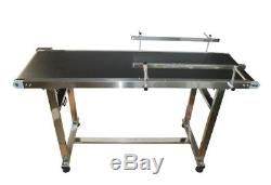 5915.7PVC Belt Conveyor Machine (110V, 120W, Double Guardrails, Stainless Steel)