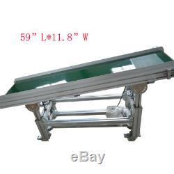 Aluminum&PVC Belt Inclined Conveyor Height Adjustable, Profesional Packing Supply