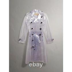 Authentic Burberry SS18 Collection Clear Trench Coat- NWT SZ 6
