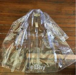 Authentic Burberry Ss18 Collection Crystal Clear Pvc Trench Coat Sz Us6/uk8/eu40