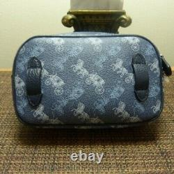 Authentic NWT COACH 78603 Convertible Belt Bag With Horse & Carriage Print Blue