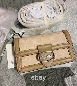 Brand new Riley Convertible Belt Bag In Colorblock Signature Canvas #76594