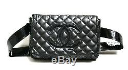 Chanel Parfum Quilted Bum Bag Fanny Pack Belt Bag VIP Counter Gift Black NEW