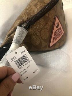 Coach F88013 Star Wars X Coach Belt Bag Signature Canvas With Patches $350