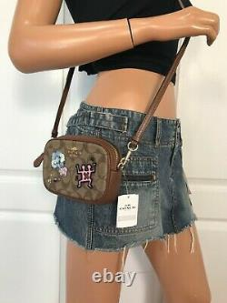 Coach Keith Haring Waist Convertible Belt Bag Signature Canvas Patches Crossbody