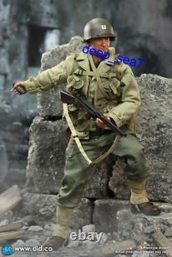 Did 1/6 Wwii Us Rangers Captain Miller Soldier Figure Toy Army Doll A80145