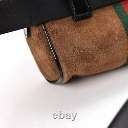 Gucci Ophidia Small Brown Web Belt Bag 517076 Size 95