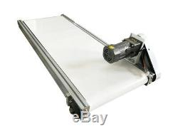 Hot! More Wider 47.2X15.7White PVC Belt Conveyor Mesa Applicable for Industry