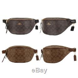 NEW Coach Fanny Pack Women's Large PVC Leather Belt bag Messager F48740 Brown