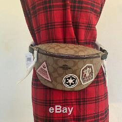 NWT Coach F88013 star wars x coach belt bag in signature canvas with patches