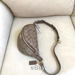 NWT Coach Signature Saddle Belt Bag 48740