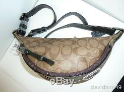 NWT STAR WARS X COACH F88013 Belt Bag in Signature Canvas with Patches-Khaki