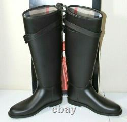New Burberry Belted Equestrian Rain Boots Sz 36/6 $375