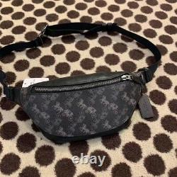 New coach WARREN MINI BELT BAG WITH HORSE AND CARRIAGE PRINT