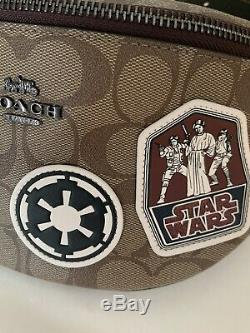 Nwt Coach Men's Star Wars X Coach Signature With Patches Belt Bag 88013