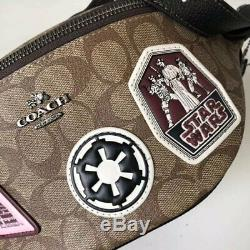 Nwt Coach Star Wars X Coach Signature With Patches Belt Bag 88013