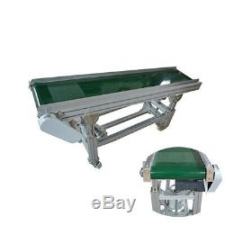PVC Belt Inclined Wall Conveyor Machine 11.8''Width 59''Length 110V New
