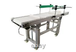 PVC Flat Conveyor Belt Systems for Industrial Transport with Baffle 59''L11.8''W