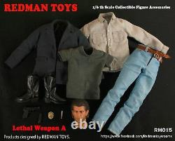 REDMAN TOYS RM015 1/6 Lethal Weapon Mel Gibson Clothes Set & Head Model Toys