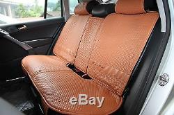 Seat Cover Shift Knob Belt Steering Wheel Brown PVC Leather Instant Upgrade 4