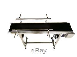 Small 47.27.8Packing Conveyor, PVC Belt Conveyor Machine with Double Guardrail