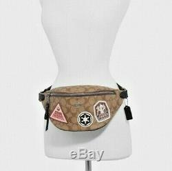 Star Wars X Coach Belt Bag In Khaki Signature Canvas With Patches (Fanny Pack)