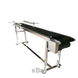 TECHTONGDA 110V 70.8 PVC Belt Conveyor with Double Guardrail Stainless Steel