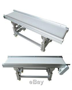 TECHTONGDA Baffle PVC White Belt Conveyor with Double Guardrail Stainless Steel