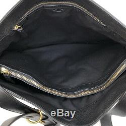 Women's Tory Burch Gemini Link Belted Black Leather Bag